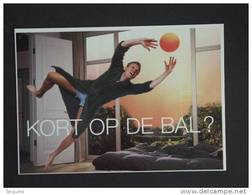 Carte Kaart Boomerang Belgique België 2002 Pub Mobistar Telecom Kort Op De Bal ? WK Voetbal Football Man Homme - Men