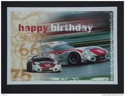 Carte Kaart Boomerang Belgique Happy Birthday Road 66 24 Uren Van Spa Francorchamps - Sport Automobile