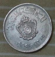 Libya-kingdom- 20 Milliemes-1385-1965 -idris I - Agouz- - Libya