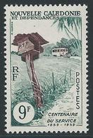NOUVELLE CALEDONIE 1960 - YT N°297 - 9 F. Vert-bleu Et Brun-violet - Services Postaux - Neuf** - TTB Etat - New Caledonia