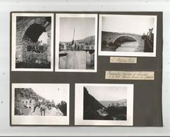 LIBAN SYRIE CAMPAGNE 1939 1940 .9 PHOTOS AVEC MILITAIRES FRANCAIS PONT DE ZEBAIDE ET VUES DE  BEYROUTH ? - Lieux
