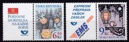 2003, Tschechische Republik, Ceska, 379/80, Grußmarken. MNH ** - Tschechische Republik