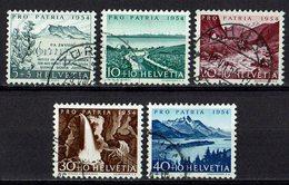 Schweiz 1954 // Mi. 597/601 O (030..131) - Gebraucht