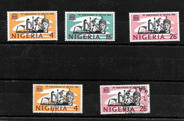 Nigeria 1966 UNESCO Complete Set Very LMM Plus 4d And 2/6d Used (6977) - Nigeria (1961-...)