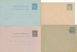 """CG-118: FRANCE: Lot """"SAGE""""  4 Entiers Neufs: 75E1-89CP1-90CP2-90E2 - Entiers Postaux"""