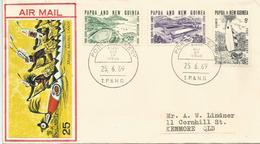 PAPOUASIE. Aramia Racing Canoe,   Série De 1969. FDC - Canoa