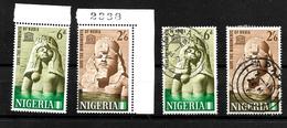 Nigeria 1964 Nubian Monuments Complete Set MNH Marginals And Used (6981) - Nigeria (1961-...)