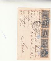 Pristan, Montenegro To Arezzo Italia Su Cartolina Postale Used 1910 - Montenegro