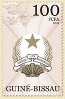 GUINE BISSAU 2011 SET COAT OF ARMS UNIT FIGHT PROGRESS UNIDADE LUTA PROGRESSO Gb11404a - Guinea-Bissau