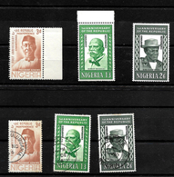 Nigeria 1964 Anniversary Of Republic Complete Set MNH Marginals ** And Used (6982) - Nigeria (1961-...)