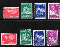 Nigeria 1964 Anniversary Of Human Rights Complete Set LMM And Used (6983) - Nigeria (1961-...)