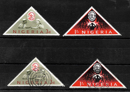 Nigeria 1963 World Scout Jamboree Complete Set LMM And Used (6984) - Nigeria (1961-...)