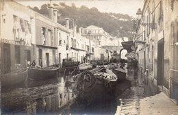 Nice, Le Marché Aux Poissons, Rare Carte Photo, Inondations - Märkte