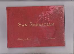 ALBUM DE 24 VISTAS EN FOTOTIPIA DE SAN SEBASTIAN - Boeken, Tijdschriften, Stripverhalen