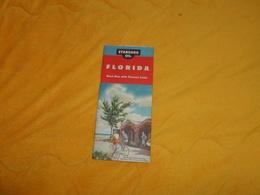 ANCIENNE CARTE DATE ?...ETATS UNIS. / STANDARD OIL FLORIDA ROAD MAP WITH PICTORIAL GUIDE. - Roadmaps