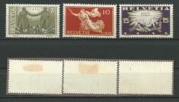 SUISSE: *, N°YT 170 à 172, Série, TB - Svizzera