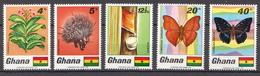 Ghana MNH Set And SS - Vlinders