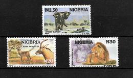 Nigeria 1993 Wildlife, N1.50, N20 And N30 Used (6987) - Nigeria (1961-...)