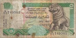 CENTRAL BANK OF SRI LANKA . 10 RUPPEES .  2005-11-19  . N° M/512  749505  . 2 SCANES - Sri Lanka