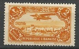 GRAND LIBAN PA N° 41 NEUF* TRACE DE  CHARNIERE TB / MH - Aéreo