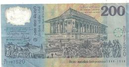 CENTRAL BANK OF SRI LANKA . 200 RUPPEES . CINQUANTENAIRE INDEPENDENCE 1948-1998  998-02-04  . N° N/21  787520. 2 SCANES - Sri Lanka
