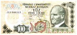 Billet > Turquie > Année 1970  > Valeur 100 Lire - Turquie