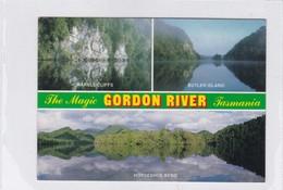 THE MAGIC GORDON RIVER, TASMANIA. MULTI VIEW VUE VISTA.COLOUR TECH PROD. CIRCULEE 1989 TO URUGUAY, AUTRES MARQUES- BLEUP - Australië
