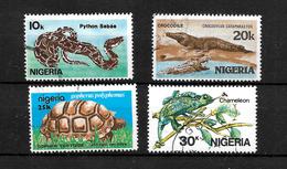 Nigeria 1986 African Reptiles Complete Set  Used  (6992) - Nigeria (1961-...)