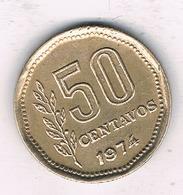 50  CENTAVOS 1974 ARGENTINIE /7315/ - Argentina