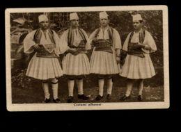 B7928 ALBANIA - COSTUMI ALBANESI / ALBANIAN COSTUMES - FORMATO PICCOLO B\N EDIZ. CASTRIOTA - Albania