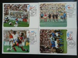 Coupe Du Monde Football 1982 World Cup Mundial X4 Carte Maximum Maxi Card Espagne Spain - Tarjetas Máxima