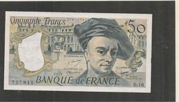 50 Francs - Quentin De La Tour -  Voir Signature Bouchet   - 1979  - ALPHABET D. 16 -   SUP +  -  Billets° JPP - 1962-1997 ''Francs''
