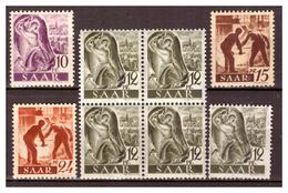 Saarland, 5x PF, 210-215,  Postfrisch - 1947-56 Protectorate