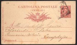 ITALY ITALIA ITALIEN 1891. POSTCARD CARTOLINA POSTALE, PONTICELLI CAMPOBASSO - Italia