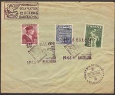 España 1002/1004 SPD. 1946. Sobre Manchado - 1931-Hoy: 2ª República - ... Juan Carlos I
