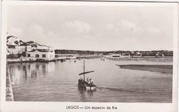 POSTCARD PORTUGAL - ALGARVE -LAGOS - UM ASPECTO DA RIA  - CIRCULATED TO FRANCE - Faro