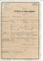CERTIFICAT De BONNE CONDUITE De 1891...Sapeur PIOLINE Du 1er Régiment D'Infanterie De Marine De CHERBOURG (50) - Documents
