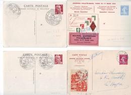 101A 4 Beaux Entiers Semeuse Et Gandon Très Bon état - Cartes Postales Types Et TSC (avant 1995)