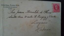 O) 1926 CUBA-CARIBBEAN. MAXIMO GOMEZ 2c, FROM CENTRAL PURIO CALABAZAR DE SAGUA, XF - Cuba