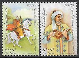TURKEY 2007 Sc#B287-88 Kasgarli Mahmut Complete Set MNH LUX - 1921-... Republik