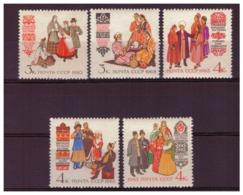 URSS612) 1963 -Costumi Regionali-Serie Cpl 5 Val.MNH** - 1923-1991 URSS