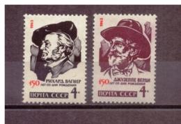 URSS623) 1963-Wagner E Verdi-Serie Cpl 2val MNH** - Nuovi
