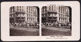 RARE !! SUPERBE VUE STEREOSCOPIQUE POLOGNE 1905 - VARSOVIE * HUSSARDS DU REGIMENT DE GRODNA - WARSZAWA GRODNA. HUZARZY - Pologne