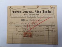 PORTUGAL FACTURA 18 SETEMBRO 1915 LORDELLO DO OURO - Portugal