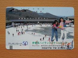Japon Japan Free Front Bar, Balken Phonecard / 110-9293 / Winter Sports - Sport
