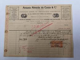 PORTUGAL FACTURA ANTONIO ALMEIDA DA COSTA - Portugal