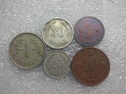Finland Coin Set Before II WW  5 Penniä - 1 Markka   1920....40 - Finlande