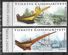 TURKEY 2009 Sc#3152-53 Ships Of Sultan Complete Set MNH LUX - 1921-... Republik