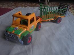 Occasion - Jouet Playmobil Jeep Et Remorque Pour Animaux De Safari Années 2000 - Toy Memorabilia