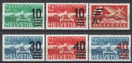 Svizzera 1935 Unif. A19/24 **/MNH VF - Poste Aérienne